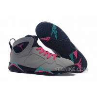"Big Discount! 66% OFF! Girls Air Jordan 7 ""Miami Vice"" Custom Wolf Grey/Pink Flash-Mint Green"