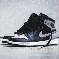 Big Discount! 66% OFF! 555088-014 Air Jordan Black Toe 1s Retro High OG Black/Grey ( Men Women GS Girls)
