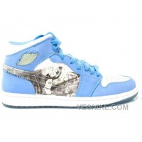 Big Discount! 66% OFF! Air Jordan 1 Alpha North Carolina Tar Heels Basketball White Blue 316269-142