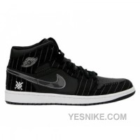 Big Discount! 66% OFF! Air Jordan 1 Black White Silver Dark Charcoal 325514-012