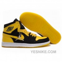 Big Discount! 66% OFF! Air Jordan 1 High Black White Varsity Maize 136085-072