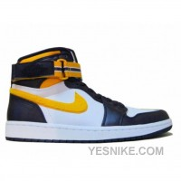 Big Discount! 66% OFF! Air Jordan 1 High L.A Lakers Strap Grand Purple Varsity Maize Wht 342132-571