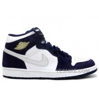 Big Discount! 66% OFF! 136065 101 Air Jordan 1 Phat Retro White Silver Navy A01002 CAMww