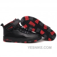 Big Discount! 66% OFF! Air Jordan Retro 10 Shoes Black Red