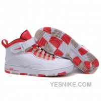 Big Discount! 66% OFF! Air Jordan Retro 10 Shoes White Red