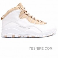 Big Discount! 66% OFF! Air Jordan Retro 10 White Linen University Blue 310805-142
