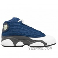 Big Discount! 66% OFF! Air Jordan Retro 13s Ps French Bl Unvrsty Bl Flnt Gry W 414575-401 For Sale