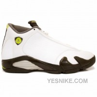 Big Discount! 66% OFF! Air Jordan 14 Retro White Chartreuse White Chartreuse Black 311832-132