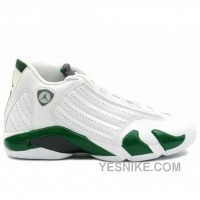 Big Discount! 66% OFF! Air Jordan Retro 14 White Forest Green 311832-131