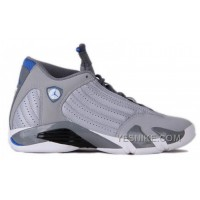 Big Discount! 66% OFF! Authentic 487471-004 Air Jordan 14 Retro Wolf Grey/White-Sport Blue