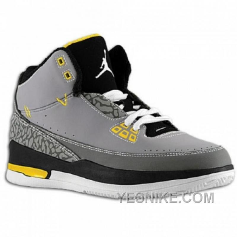 chaussures de sport 1e42b 93dbd Big Discount! 66% OFF! Air Jordan 2.5 Team Gris/Noir/Jaune YF45z