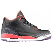 Big Discount! 66% OFF! Air Retro Jordan 3 Bright Crimson Black Crimson-Bright Violet 136064-005 A03017 BFzhn