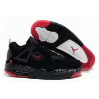Big Discount! 66% OFF! Air Jordan Shoes New Colour 4 Black/Red For Sale