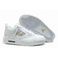 Big Discount! 66% OFF! Air Jordan Shoes New Colour 4 White/Yellow For Sale