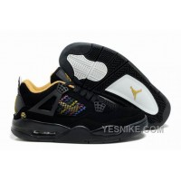 Big Discount! 66% OFF! Air Jordan Shoes New Colour 4 Black/Yellow For Sale