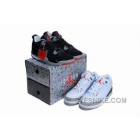 Big Discount! 66% OFF! Jordan 3 White Cements - Jordan 4 Breds Pack Limited Editon For Sale