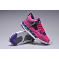 Big Discount! 66% OFF! Air Jordan IV Femme Basket Rose/Pourpre