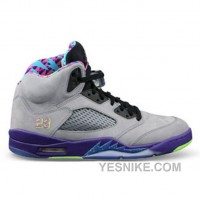 Big Discount! 66% OFF! 621958-090 Air Jordan 5 Bel Air Cool Grey/Court Purple-Game Royal-Club Pink ( Men Women GS Girls)