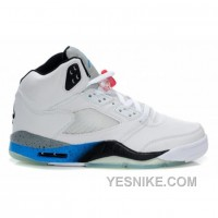 Big Discount! 66% OFF! Air Jordan 5 (V) White Black True Blue Cement