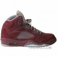 Big Discount! 66% OFF! Air Jordan 5 Burgundy Light Graphite Silver 314256-602