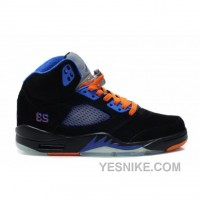 Big Discount! 66% OFF! Air Jordan 5(V) Fluff Black Orange Old Royal