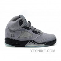 Big Discount! 66% OFF! Air Jordan 5(V) Fluff Cool Grey Black White
