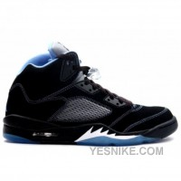 Big Discount! 66% OFF! Air Jordan Retro 5 Black University Blue White 314259-041