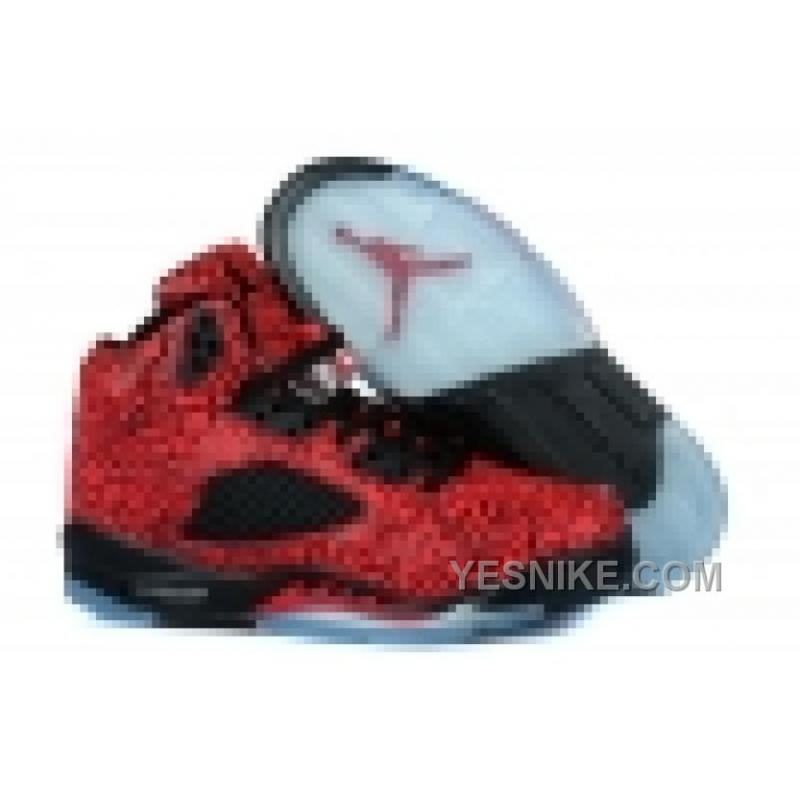 site réputé 15d7c 78b4e Big Discount! 66% OFF! Air Jordan 5 Retro Femme Basket Rouge/Noir