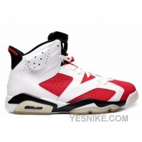 Big Discount! 66% OFF! Air Jordan 6 (VI) Original (OG)-Carmine White Carmine Black 322719-161