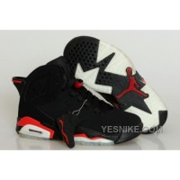 Big Discount! 66% OFF! Air Jordan VI Femme Retro Basket Chaussures Noir/Rouge