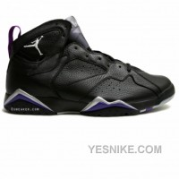 Big Discount! 66% OFF! Air Jordan 7 Ray Allen Milwaukee Bucks Away PE Black Purple