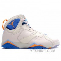 Big Discount! 66% OFF! Air Jordan Retro 7 Pearl White Bright Ceramic Pacific Blue 304775-281