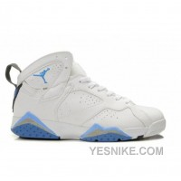 Big Discount! 66% OFF! Air Jordan Retro 7 Shoes White Blue