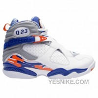 Big Discount! 66% OFF! Air Jordan 8 Quentin Richardson Player Exclusive PE White Blue Orange