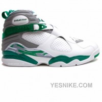 Big Discount! 66% OFF! Air Jordan 8 Ray Allen Boston Celtics Home PE White Green