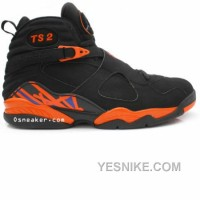 Big Discount! 66% OFF! Air Jordan 8 TS2 Fred Jones Away New York Knicks PE Black Orange