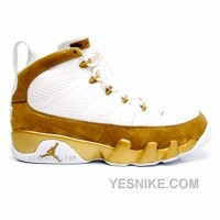 Big Discount! 66% OFF! Air Jordan 9 Premio Bin 23 White Metallic Gold 410917-101