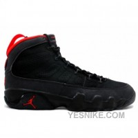 Big Discount! 66% OFF! Air Jordan Original OG 9 Black Dark Charcoal True Red 130182-001