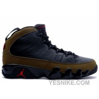 Big Discount! 66% OFF! Air Jordan Retro 9 Black Light Olive True Red 302370-031