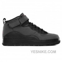 Big Discount! 66% OFF! Air Jordan AJF 10 Black Varsity Red Dark Shadow 414588-001