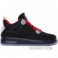 Big Discount! 66% OFF! Air Jordan AJF 4 Premier Laser Black Varsity Red Stealth 384393-001