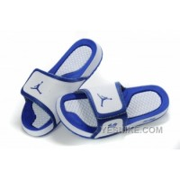 Big Discount! 66% OFF! Jordan Pas Cher - Air Jordan Hydro 10 Sandals Bleu MXxni