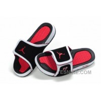 Big Discount! 66% OFF! Jordan Pas Cher - Air Jordan Hydro 10 Sandals Noir/Rouge TdCGZ