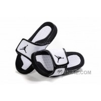 Big Discount! 66% OFF! Jordan Pas Cher - Air Jordan Hydro 10 Sandals Blanc/Noir FS8Dd