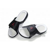 Big Discount! 66% OFF! Jordan Pas Cher - Air Jordan Hydro 12 Sandals Noir/Blanc NkkBC
