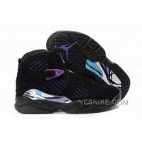 Big Discount! 66% OFF! Kids Air Jordan 8 Black Purple