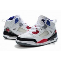 Big Discount! 66% OFF! Kids Air Jordan Spizike 3.5 White Red Black