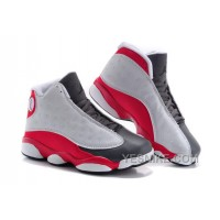 Big Discount! 66% OFF! Jordan 13s Kids White Red Black