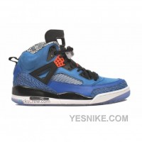 Big Discount! 66% OFF! Air Jordan Spikize Royal Blue Black White 315371-405