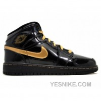 Big Discount! 66% OFF! Air Jordan 1 Phat (gs) Girls Black Metallic Gold 364781-001